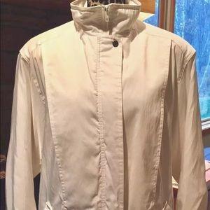 White Winter Jacket, Insulated, Full Zipper, Small